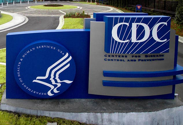 CDC (Centers for Disease Control and Prevention) sign