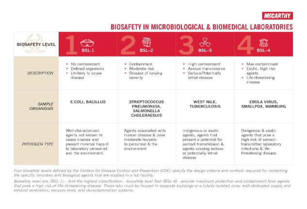 Biosafety in Labs Chart