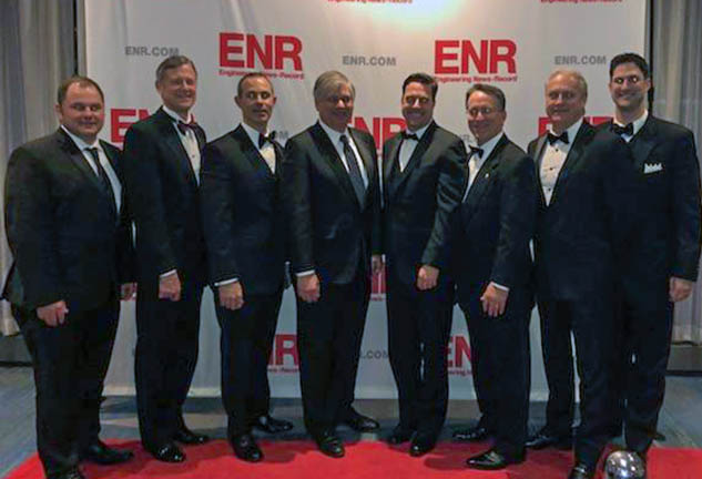 McCarthy team at the ENR best projects awards gala
