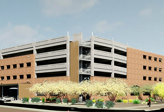 New parking garage for University of Arizona