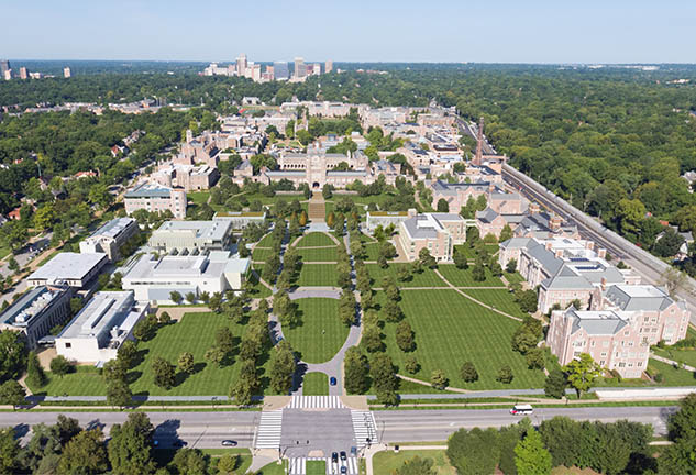Aerial image of Washington University