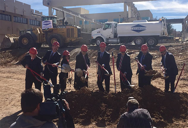 UNM Leaders breaking ground on New Anderson School of Management