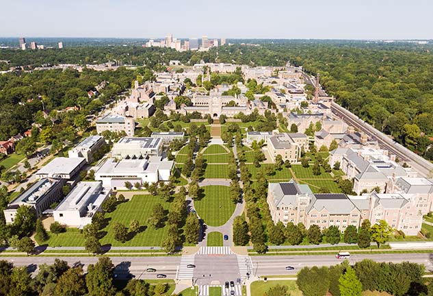 aerial view of washington university