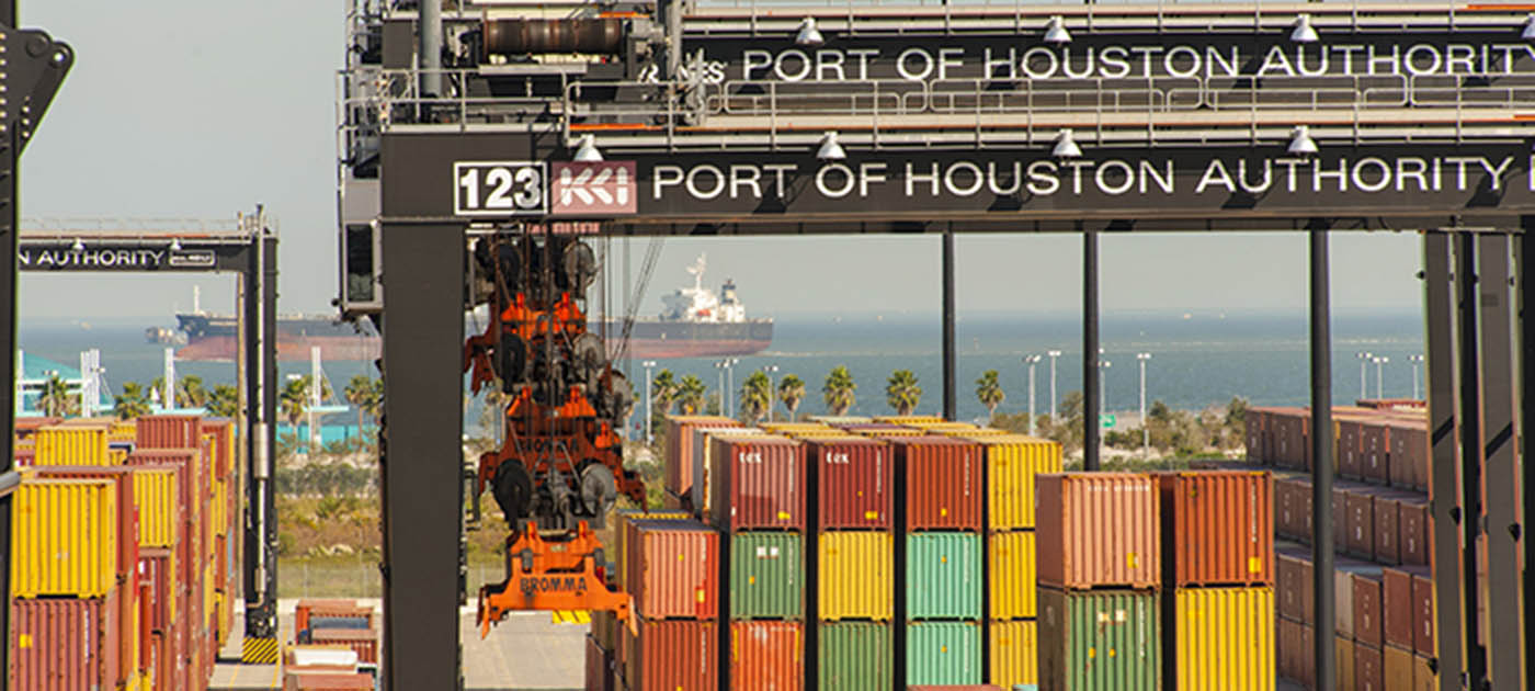 Shipping Containers at Port of Houston