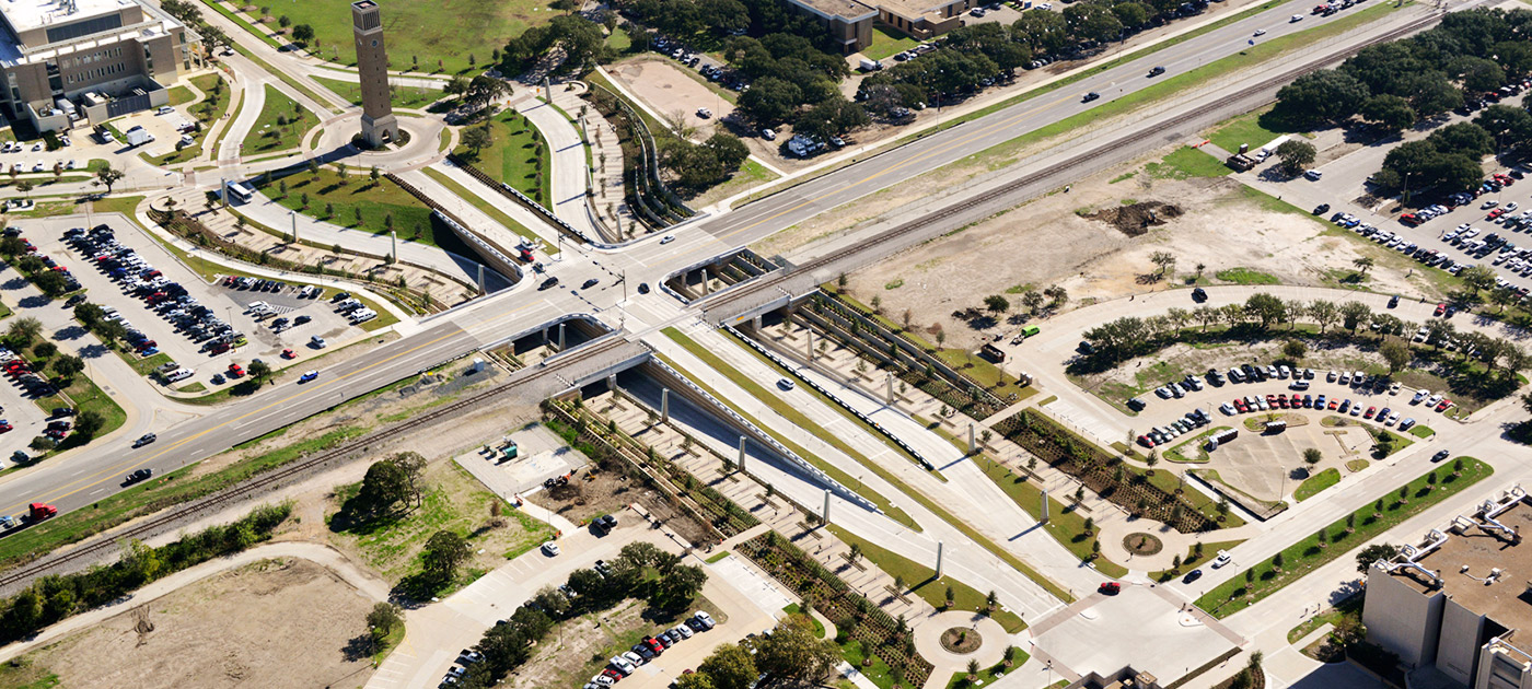 Texas A&M Wellborn Road underpass