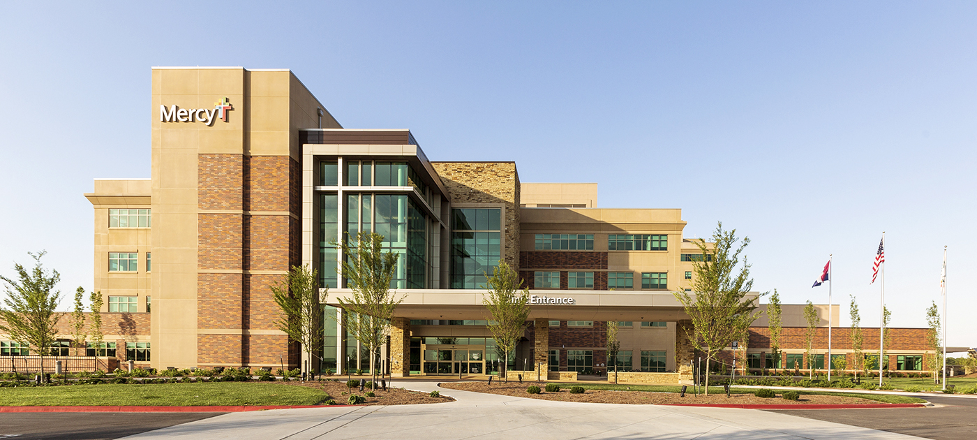 Exterior shot of Mercy Hospital in Joplin