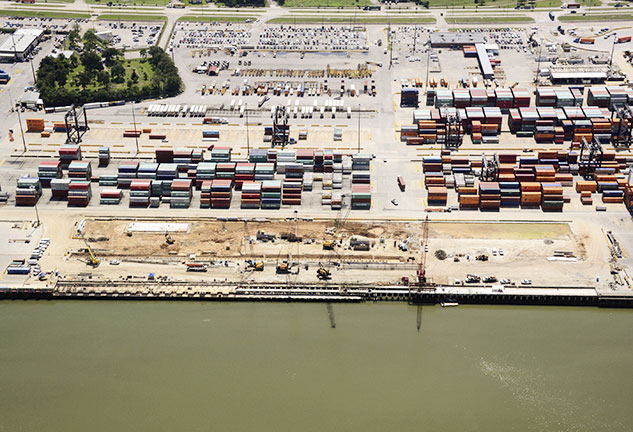 Aerial image of Port of Houston Authority