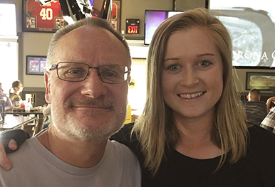 Lindsay Johnson with her dad.