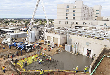 Yuma Regional Medical Center expansion project during construction.