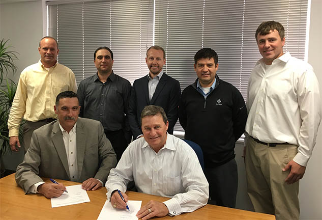 Christ Spohn project team signs the papers