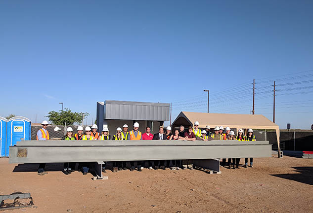 Combs High School Performing Arts Center Topping Out Ceremony
