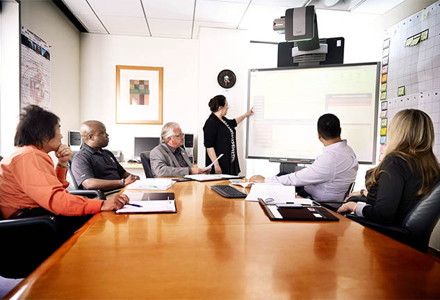 McCarthy team members in a meeting