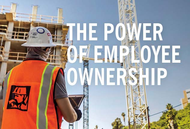 the power of employee ownership, mccarthy construction employee at jobsite