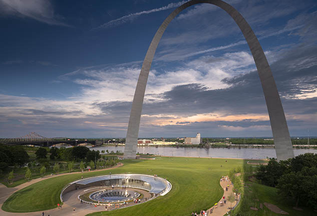 Gateway Arch Spanning Over Newly Renovated Museum