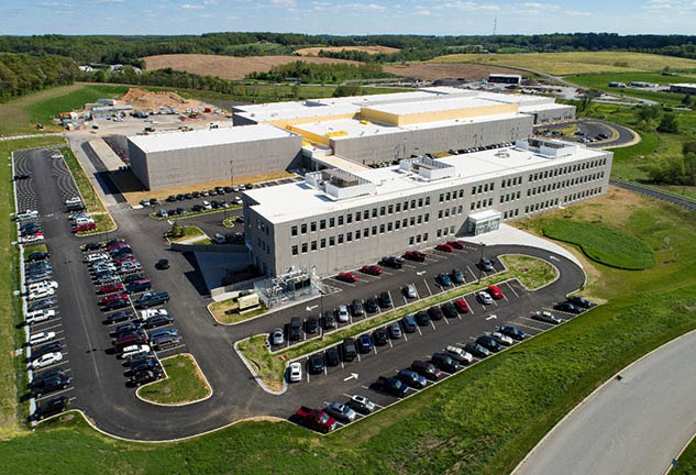 Arial Image of Johnson Controls' new research and development complex.
