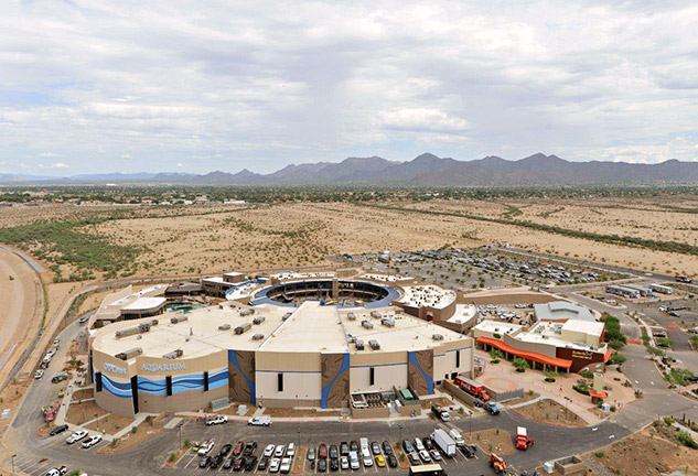 Aerial Image of Newly Constructed OdySea Aquarium in Scottsdale