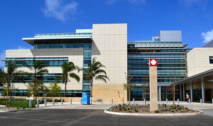Exterior of the new Navel Hospital at the Marine Corps Base Camp Pendleton