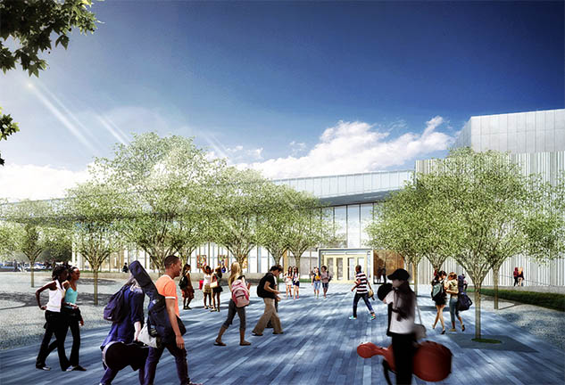 Rendering of New Plano ISD Fine Arts Center in Dallas