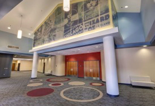Interior Lobby of New Rancho Mirage High School in Palm Springs Unified School District
