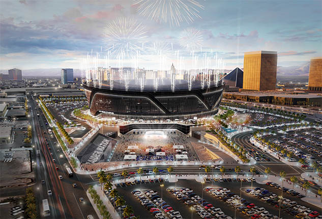 New Las Vegas Raiders Stadium Rendering