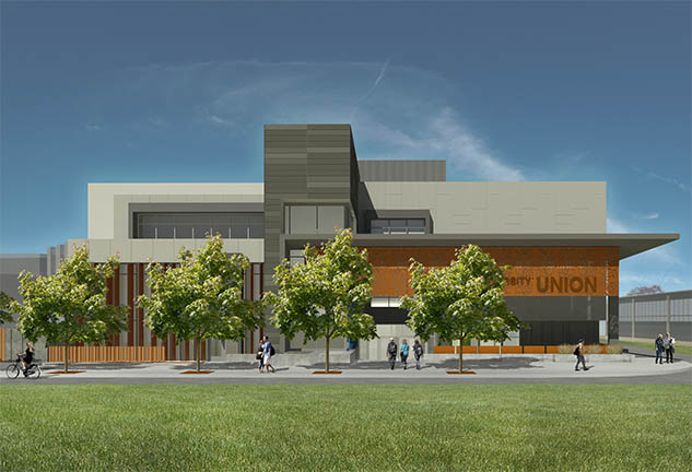 Rendering of McCarthy project at Sacramento State University