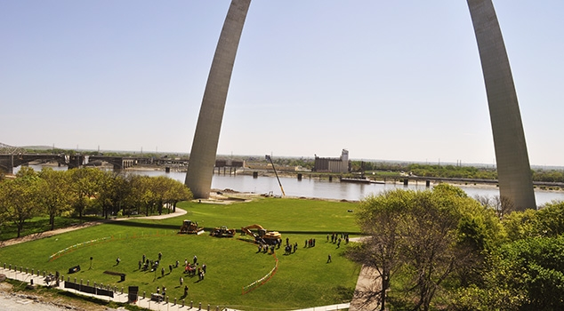 St. Louis Arch and waterfront