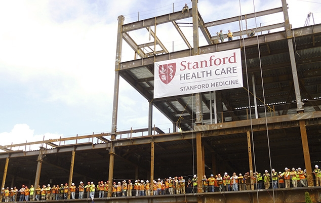 Stanford Hospital under construction