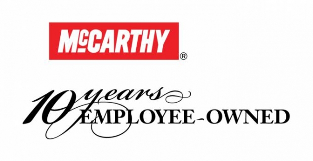 McCarthy 10 Years Employee-Owned logo