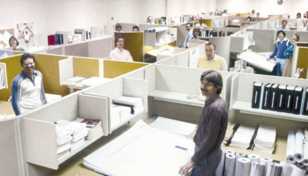 McCarthy employees in cubicles
