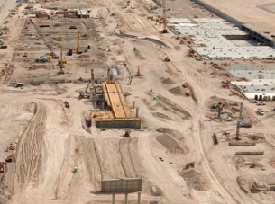 McCarran International Airport under construction