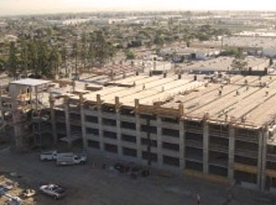 Hyundai Motor America Parking Structure under construction
