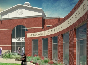Rendering of City of O'Fallon's Justice Center