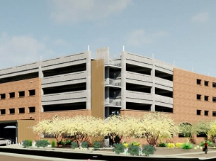 University of Arizona South Stadium Parking Structure rendering