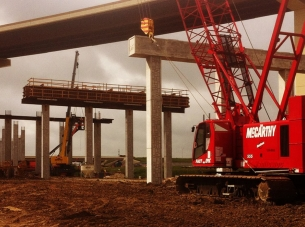 SH 71 Road project under construction