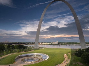 Gateway Arch over Entrance to Newly Renovated Museum