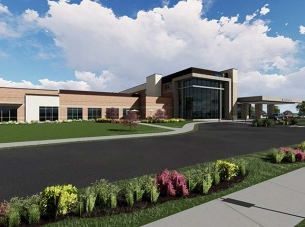 mercy springdale clinic building rendering from exterior