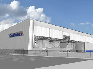 southwest airlines hangar rendering