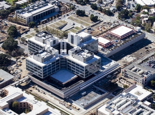 aerial of stanford hospital