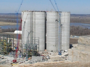 Holcim Cement Plant silos during construction
