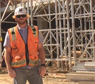 Dan - a McCarthy employee on the construction job site