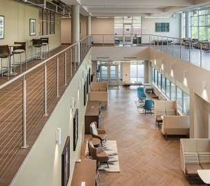 Atrium & Study Spaces | Chattahoochee Technical College Health Science Building