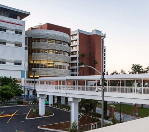 Community Regional Medical Center Parking Structure from Hospital