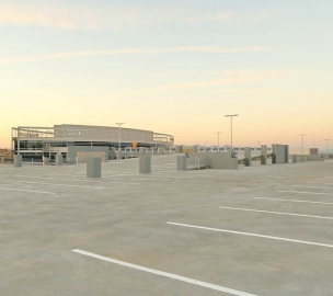 Finished Hayden Ferry Lakeside Parking Expansion in Tempe, Arizona