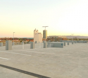 Parking Deck at Hayden Ferry Lakeside Parking Expansion Rooftop View in Tempe, AZ