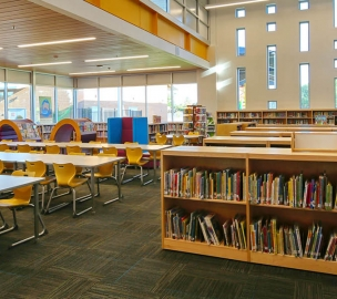 Library at Madison Richard C. Simis Replacement School in Phoenix, AZ