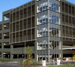 Exterior of Marin General Hospital Parking Structure