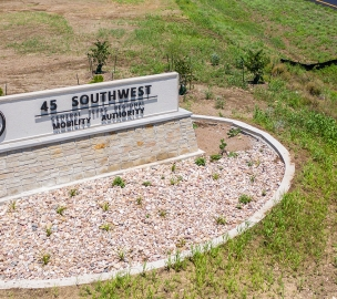 Texas State Highway 45 Southwest Sign