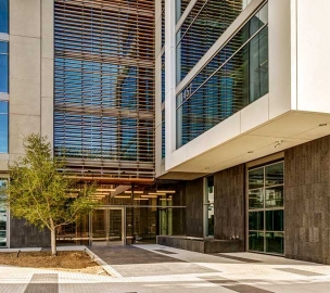 Sunset Bronson Studios ICON Office Tower Courtyard Entrance