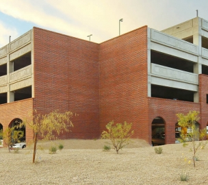 Exterior of University of Arizona South Stadium Parking Structure