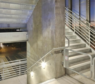 Stairway in University of Arizona South Stadium Parking Structure